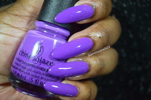 "China Glaze Electric Nights ""Plur-Ple"" Swatch"