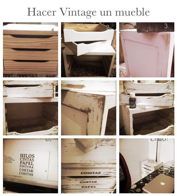 Tutorial para hacer vintage un mueble freezia for Aplicacion para disenar muebles