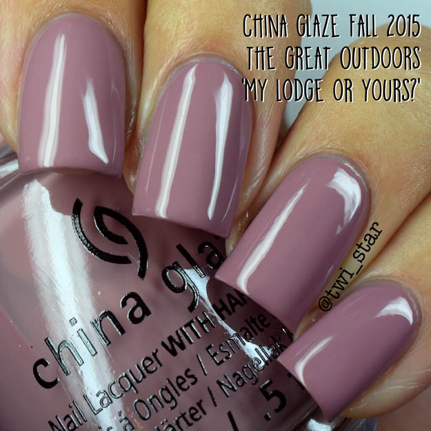 China Glaze The Great Outdoors Fall 2015 My Lodge or Yours?