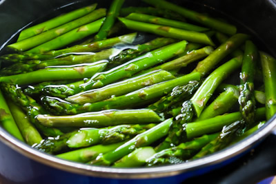 barely cooked asparagus with lemon mustard vinaigrette barely cooked ...