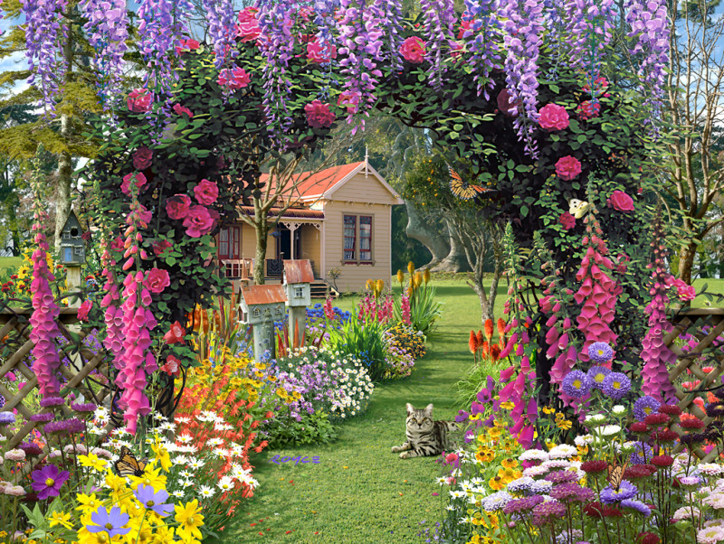 Ideas for an Enticing Cottage Garden Design 2016 Living Rooms