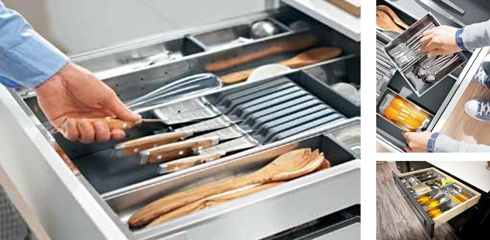 ORGA LINE An Adjustable Organization System That Can Be Used In Wood  Drawers To Organize Utensils, Knives, Cutlery, And Any Other Items Stored  In A Top ...