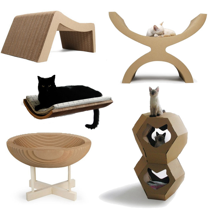 If It 39 S Hip It 39 S Here Archives Fabulous Finds For The Fancy Feline Modern Beds And Bowls To