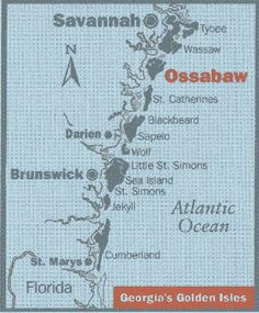 Ossabaw Island. Georgia Location and Orientation Map ,