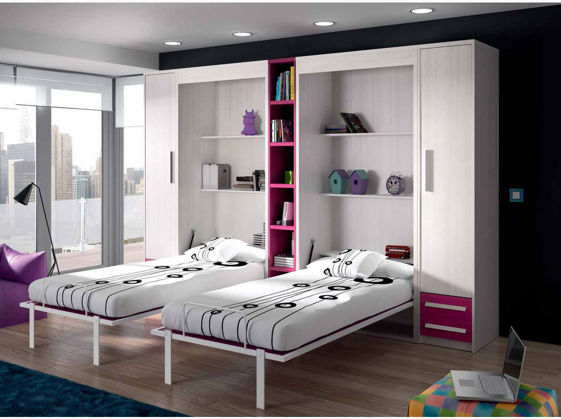 Secret de chambre chambre enfant ado for Lit rabattable vertical