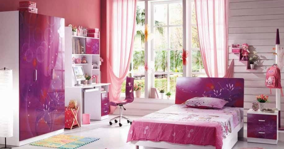 desain kamar tidur perempuan unik bernuansa ungu chieraeray
