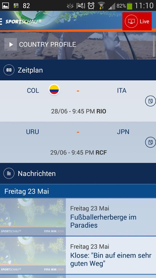 Android fifa wm app der sportschau news und livestreams for Klassisches haushaltsbuch