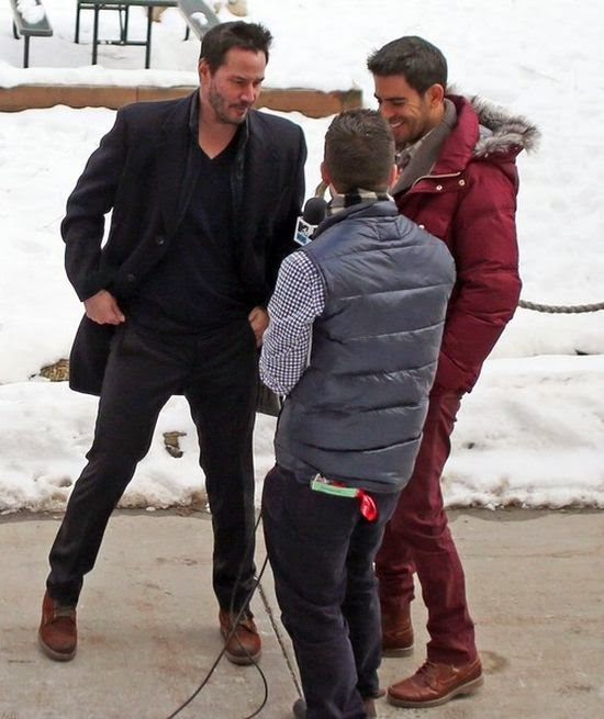 "Keanu Reeve's directly answering the question about his private chatting as he met Eli Roth on snowy mountain to inspect the area for the newest filming, ""Daughter of God."""