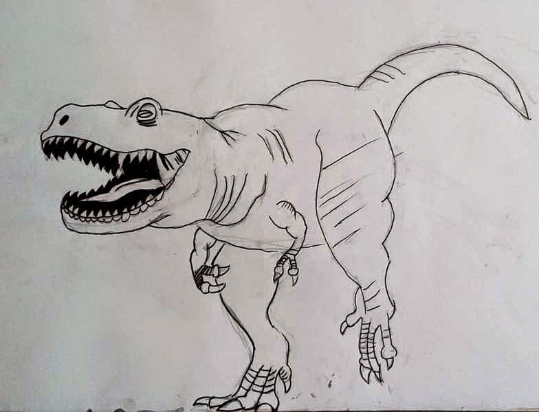 dinosaurio corriendo