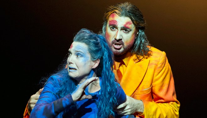 Claire Booth and David Alegret as Elcia and Osiride in Mose in Egitto - Welsh National Opera- credit Richard Hubert Smith