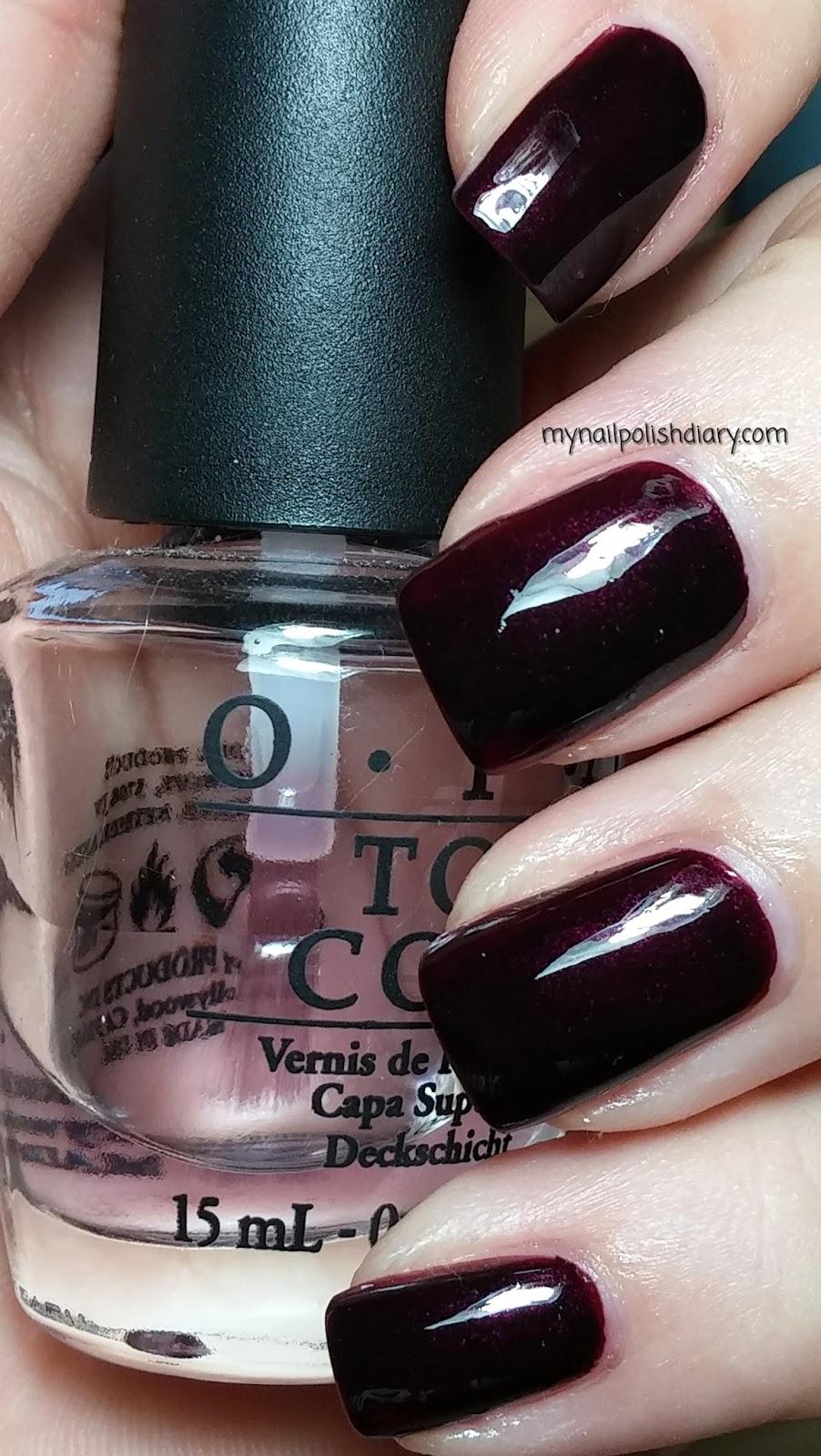 My Nail Polish Diary: OPI Black Cherry Chutney