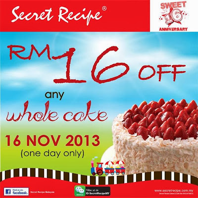 Secret Recipe Malaysia Joins WeChat, Secret Recipe Malaysia, WeChat Malaysia, Secret Recepi Sweet 16 Anniversary, candy crush sweet deal
