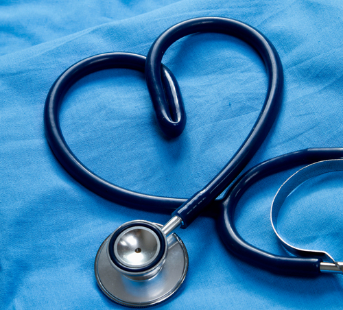 Image of: stethoscope formed like a heart.