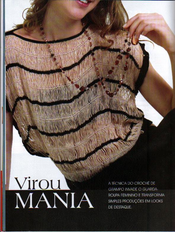Leeca Artes: blusa de croche de grampo