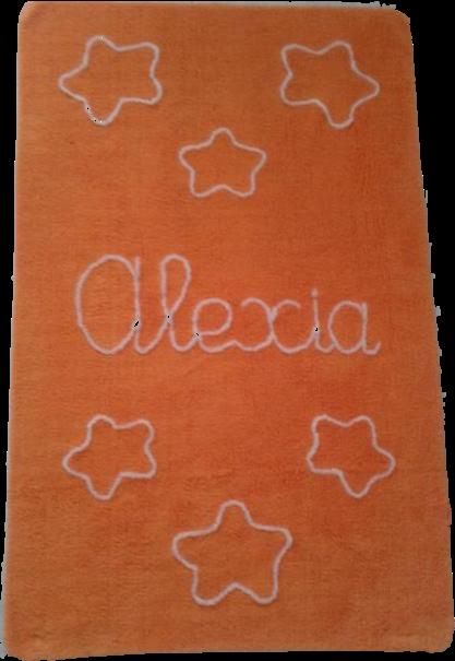 alfombra-infantil-naranja-con-nombre