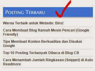 Warna & Background Judul Sidebar Widget