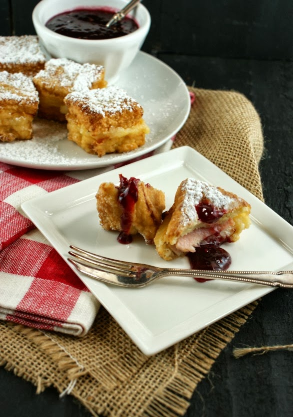 Monte Cristo Bites with Raspberry Bourbon Jam | Secret Recipe Club