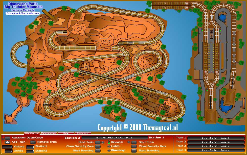 Disney park blueprints big thunder mountain railroad disneyland big thunder mountain railroad disneyland paris france malvernweather Gallery