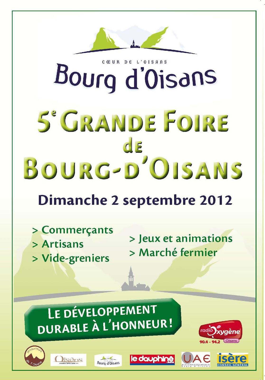 News de l 39 office de tourisme bourg d 39 oisans grande foire de bourg d 39 oisans - Bourg d oisans office tourisme ...