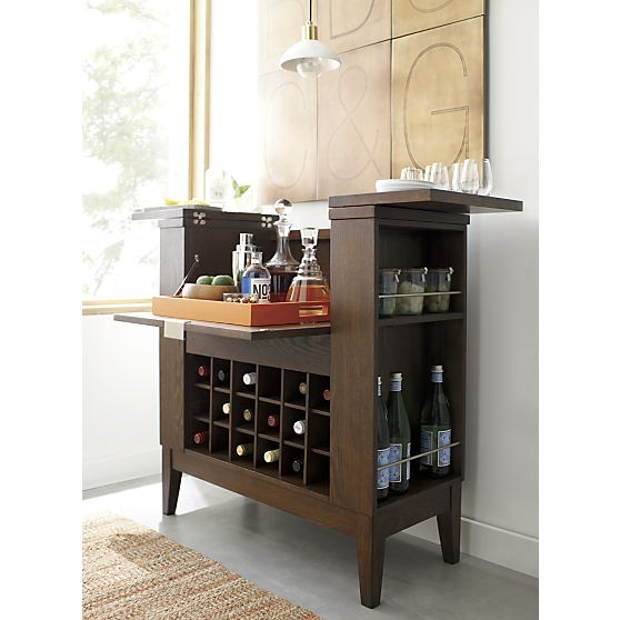 Crate & Barrel Parker Spirits Bourbon Cabinet