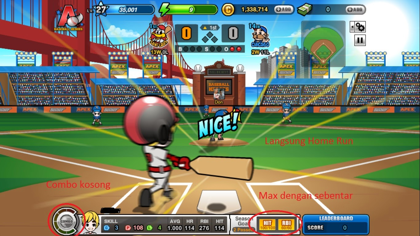 Cheat Baseball Heroes Hack Combo Work 100% Juli 2014