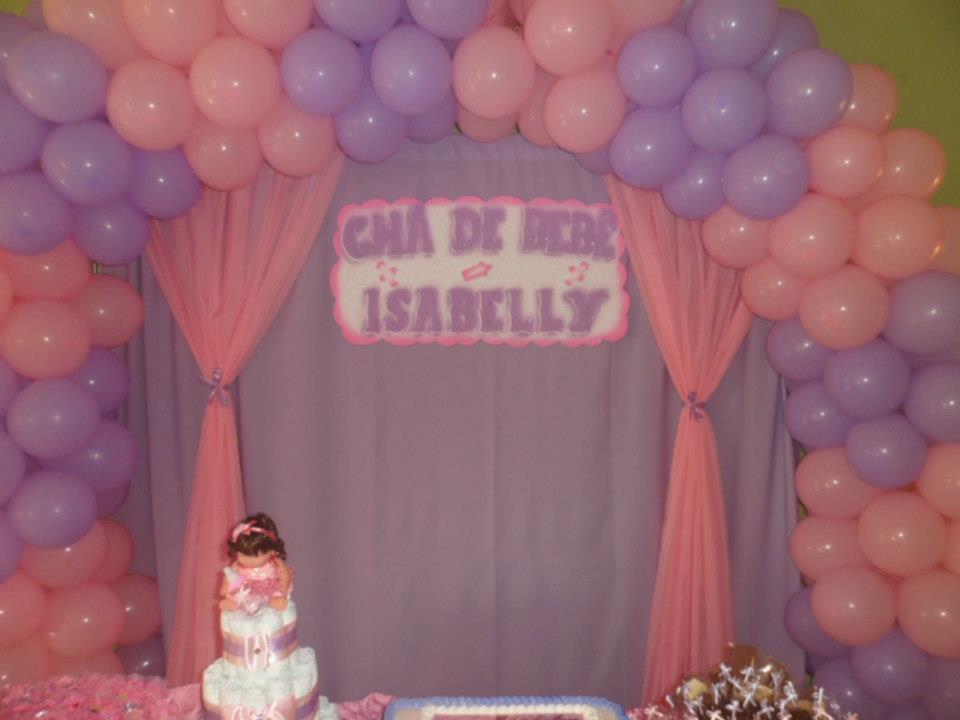 Nafkids Buffet á Domicílio Decoração Chá de Bebê Rosa e Lilás