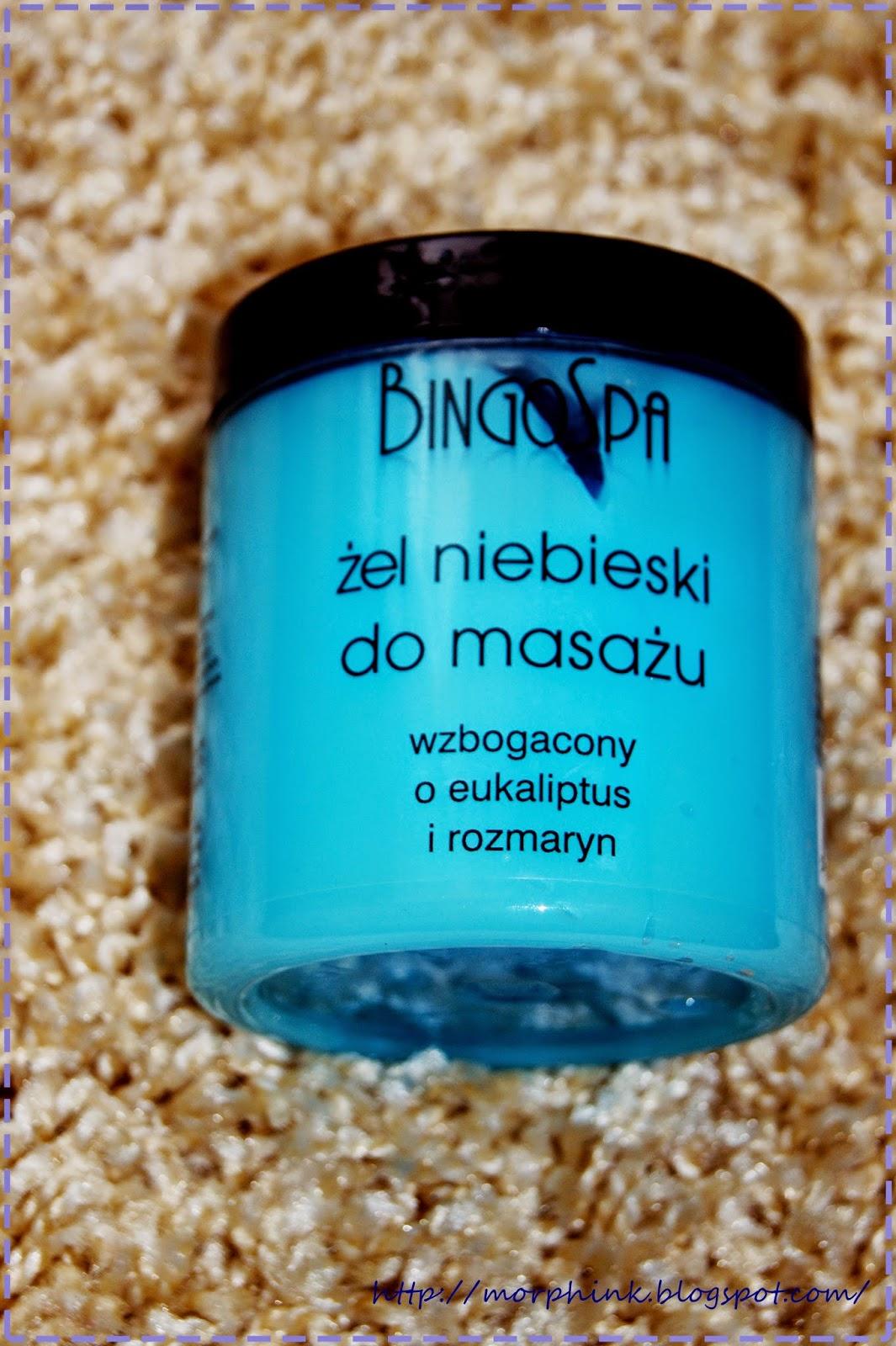 Żel niebieski do masażu z BingoSpa