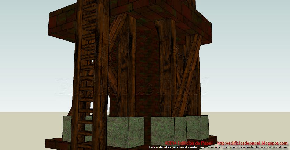 Detalle de la escalera lateral
