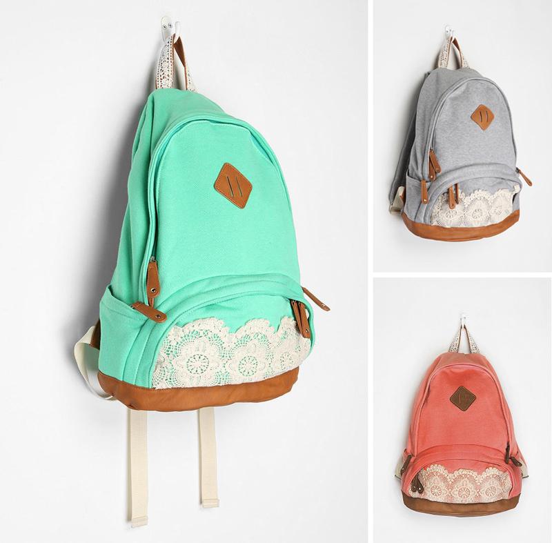 DIY Inspiration: Lace Embellished Backpacks