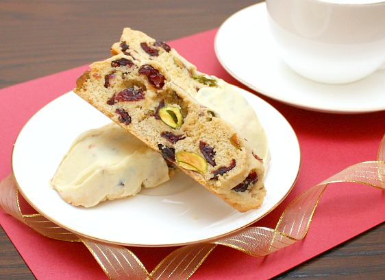 APPLE A DAY: Holiday Biscotti with Cranberries and Pistachios
