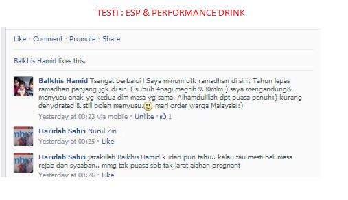 Testimoni berpuasa dengan ESP & Performance