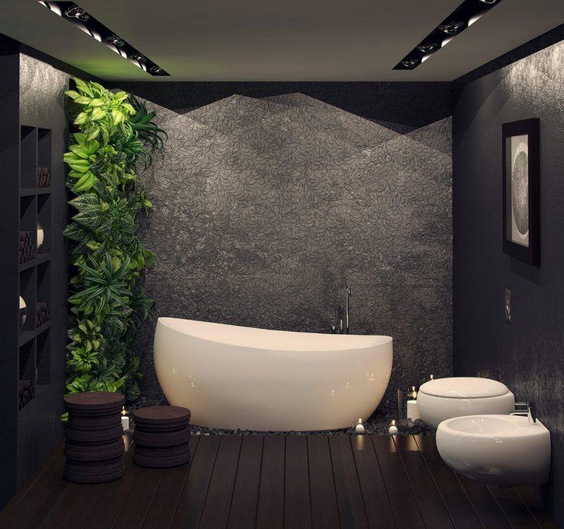 Baño De Lujo Moderno:Un jacuzzi para ocupar la parte principal del baño, rodeada de luz y