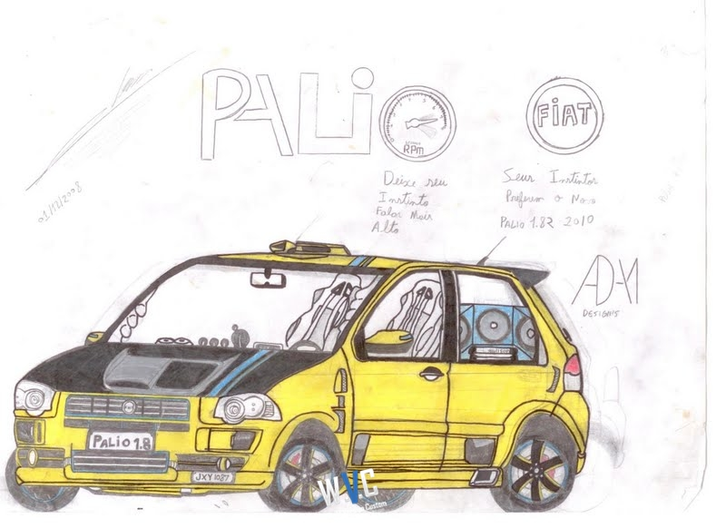 world version custom desenho do internauta tucson punto e palio