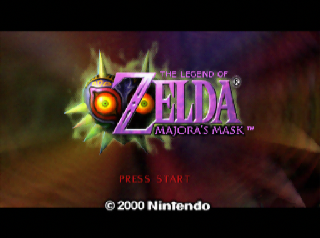 Legend of Zelda Majora's Mask title screen