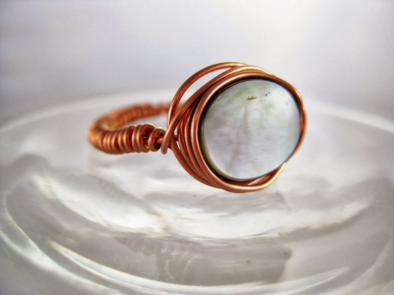 Shell Copper Ring