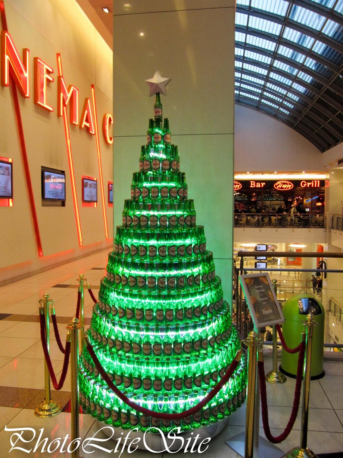 Photolifesite ww beer bottle christmas tree linky for How to make a beer bottle christmas tree