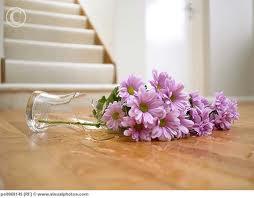 Anedota de Açorianos Vaso de Vidro com flores partido ou quebrado presente de aniversário