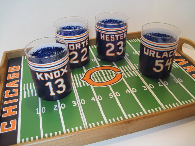 Chicago Bears Football Field Serving Tray