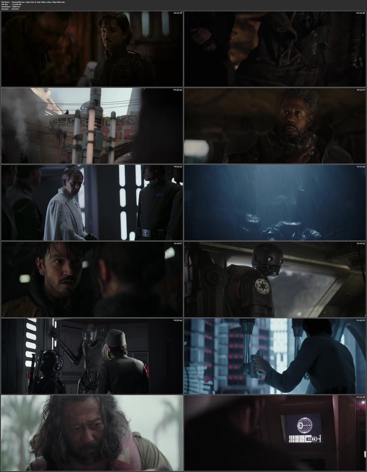 Rogue One A Star Wars Story 2016 Dual Audio Hindi BluRay 720p at 9966132.com