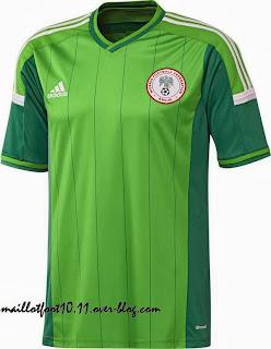Le maillot du Nigéria de la Coupe du monde 2014