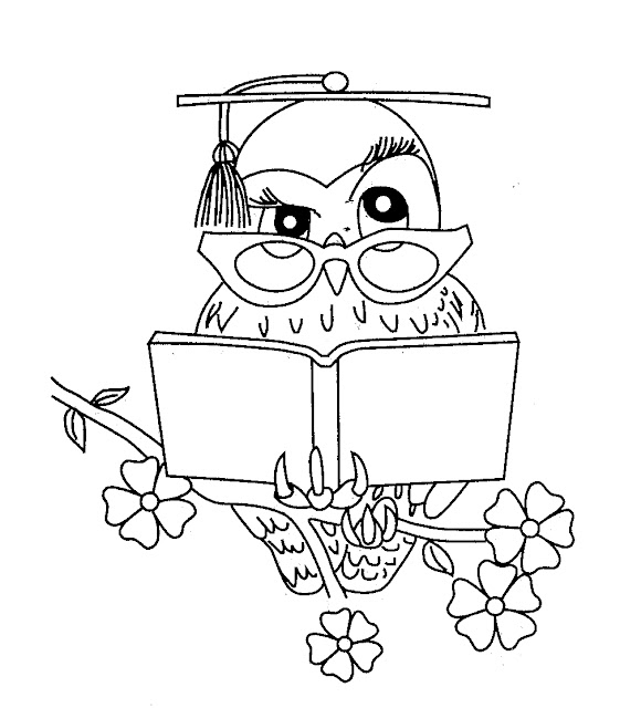 Dibujos de buhos graduación para colorear - Imagui
