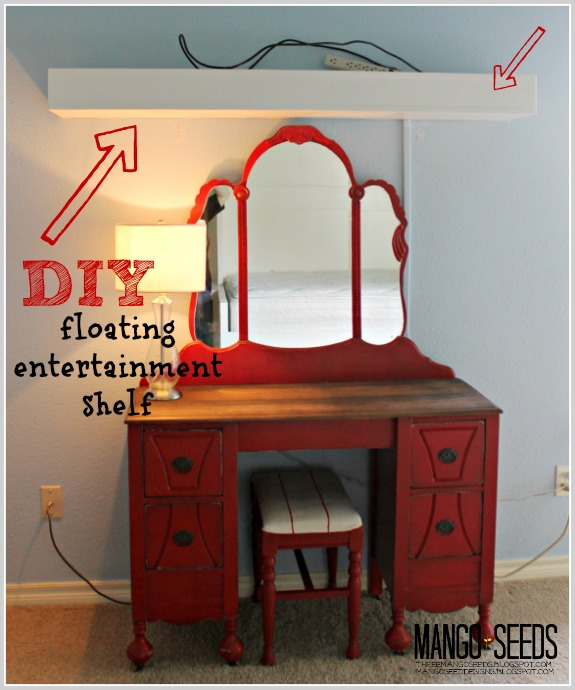 DIY Floating Entertainment Shelf