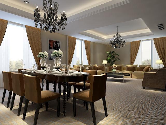 Mẫu trần thạch cao phòng ăn chung cư sang trọng