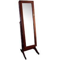 Jewelry Mirror Armoire Stand Cabinet
