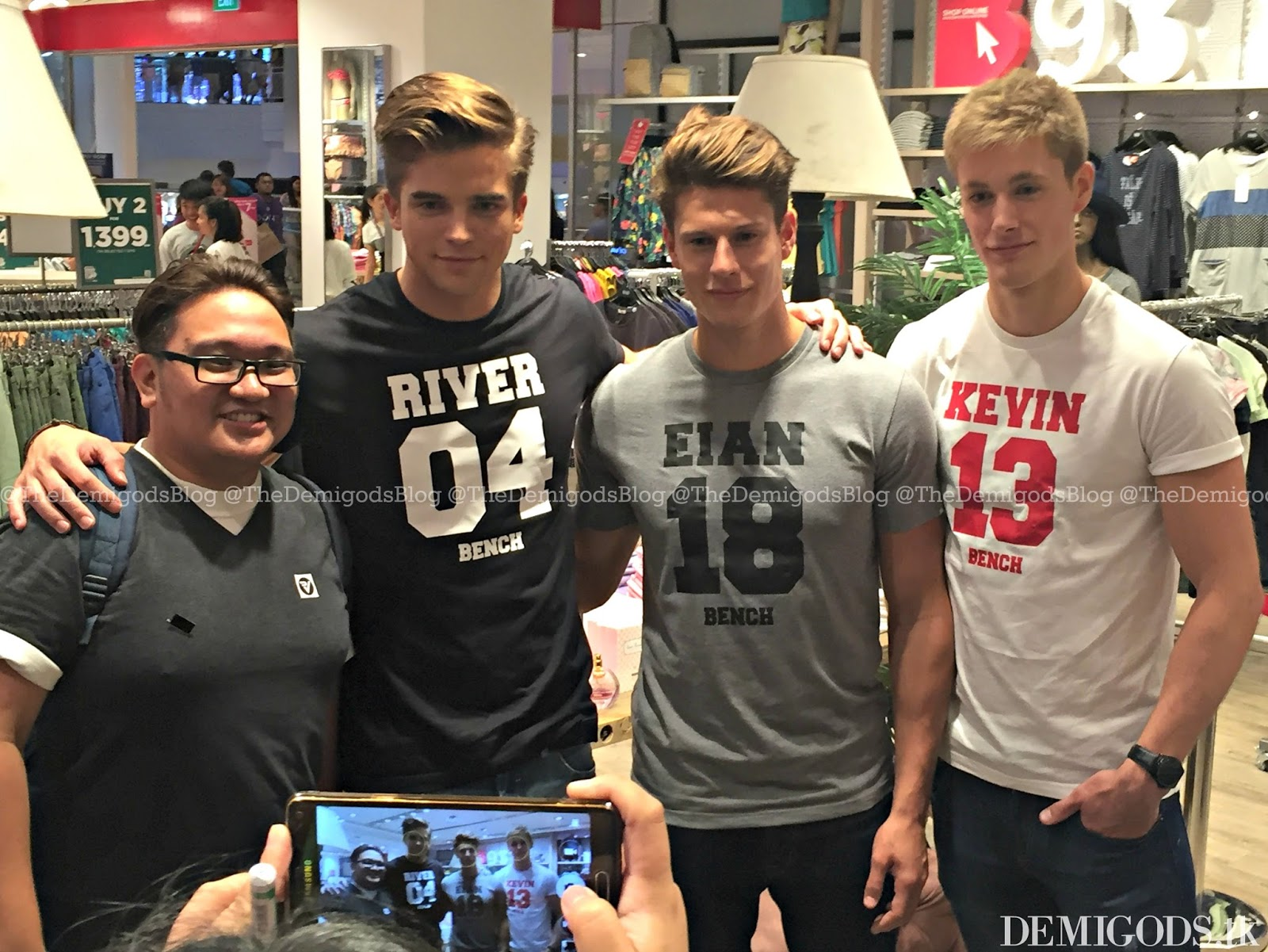 Demigods the bench meet and greet with river viiperi eian scully what i like about this meet and greet was that it didnt require the fans to buy a specific amount of bench items to meet them you just have to go there kristyandbryce Images