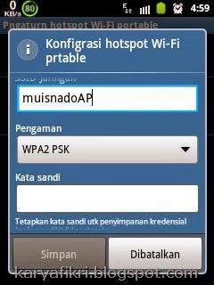 pengaturan hotspot wifi portable dengan pasword, galaxy young - karyafikri.blogspot.com