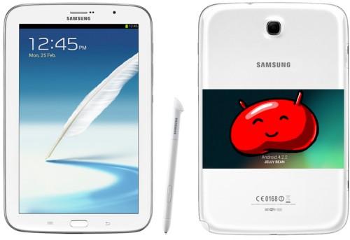 Iniziato l'aggiornamento alla versione android Jelly Bean 4.2.2 per il tablet Galaxy Note 8.0 di Samung