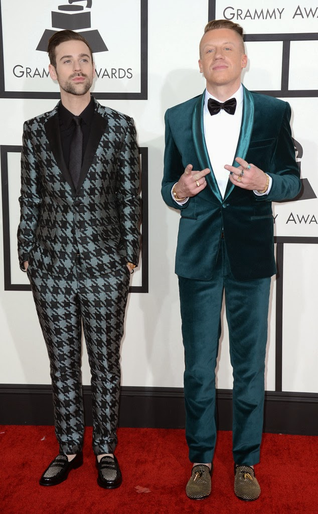 mackelmore and ryan lewis at the 2014 grammys