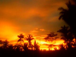 sunset on sumber sari, mranggen, srumbung, magelang