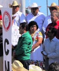 Sonia Cuevas Líder CNC Campeche Festeja 97 Aniversario Ley Agraria en Veracruz. 8ene12.
